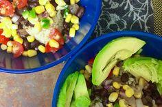 black bean burrito bowls