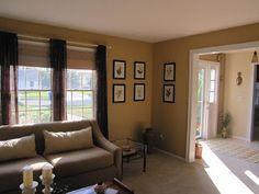 Ed Bauer Caramel Wall Color Coastalpines Voila Living Room Redo Patterns