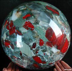 Giant African Bloodstone Sphere