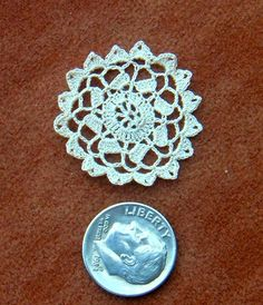 Wow! Just wow! Dollhouse Miniature Crochet Lace Scallops Tiny by TheRoslynHooker. $4.00, via Etsy.