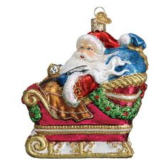 """Old World Christmas Ornament Glass /""""ANGEL WITH CLOAK/"""" NWT Merck 2010"""