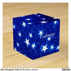 Blue Stargazer Cube Favor Box Holiday Parties, Holiday Cards, Christmas Cards, Christmas Favors, Christmas Card Holders, Stargazer, Favor Boxes, Hand Sanitizer, Colorful Backgrounds