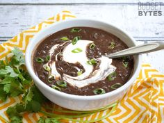 "Slow Cooker Black Bean Soup - Moving from ""to try"" to ""tried and true""...this is delicious and so easy!"