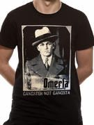 Officially Licensed Omerta imported T-shirt design printed on a Black 100% cotton short sleeved T-shirt.