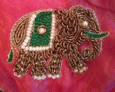 Hand work Bullion Embroidery, Bead Embroidery Patterns, Simple Embroidery, Indian Embroidery, Hand Embroidery Designs, Beaded Embroidery, Embroidery Blouses, Maggam Work Designs, Bridal Blouse Designs