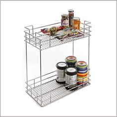 2 SHELF ORGANISER  SKU: SO-2(W)  Categories: Kitchen Organizers,   Products, PULLOUTS  Tag: 2 SHELF ORGANISER
