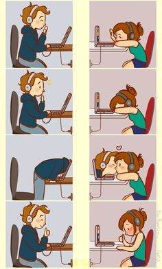 love cute ldr long distance long distance relationship distance nice long love it distância long distance love distance relationship coupple Long relationships relacion a distancia Cute Couple Comics, Couples Comics, Cute Couple Art, Couple Cartoon, Anime Love, Chibi, Long Distance Love, Cute Stories, Cute Anime Couples