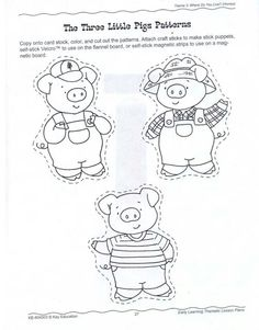 { Printable Storytime Craft: Three Little Pigs } from
