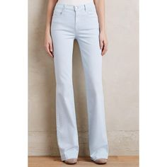 J Brand Dasha Flare Jeans (1.630 NOK) ❤ liked on Polyvore featuring jeans, winter sky, j brand, slim fit jeans, flare leg jeans, slim cut jeans and slim flare jeans