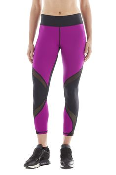Hydra Crop Legging - Magenta / Black