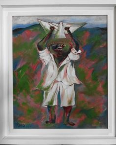 """FANG (Chen Kong Fang - 1931/2012) - Acrílico sobre tela - Excepcional obra - """"Menino com pipa"""