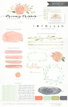 A modern, feminine Premade Branding Package to make your business effortlessly shine! $80