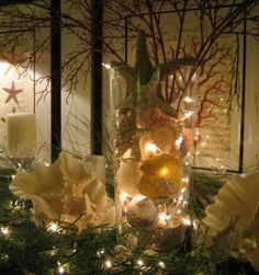 Beautiful for a beach house Christmas Decor