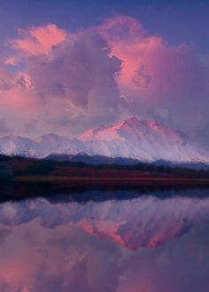 Denali Sunrise Reflection, Alaska  ♥ ♥ www.paintingyouwithwords.com