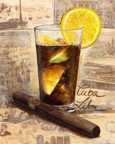 Â¡Vivimos!, The Fascinating (True) History of The Cuba Libre (Rum, Coke & Lime) Â¡Vivimos!, The Fascinating (True) History of The Cuba Libre (Rum, Coke & Lime) Cuba Libre Drink, Cuba Libre Cocktail, Cuba History, Cuba Fashion, Havana Nights Party, Cuban Party, Viva Cuba, Havana Club, Cigar Art