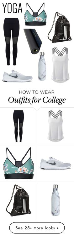 """Untitled #8"" by riley0901 on Polyvore featuring Varley, NIKE, adidas, S'well, The Upside, prAna and Gaiam"