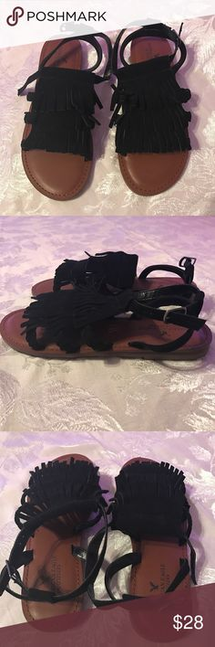 AEO sandals American Eagle Outfitters sandals. New with out tags, never worn. Size 7 in black. American Eagle Outfitters Shoes Sandals