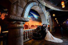 Under the sea wedding kisses at Journey of The Little Mermaid in Magic Kingdom. Photo: Stephanie, Disney Fine Art Photography