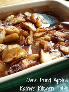 Oven Fried Apples Recipe ~ fabulous!