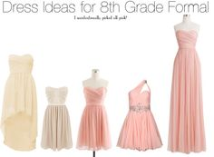 """""""Dress Ideas for 8th Grade Formal"""" by chanel-kiss ❤ liked on Polyvore"""
