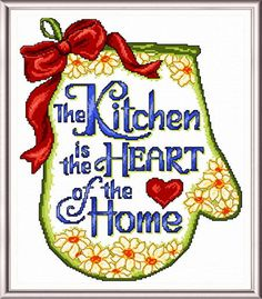 Kitchen is the Heart - cross stitch pattern designed by Ursula Michael.