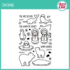 Avery Elle Clear Stamp - Polar Pals