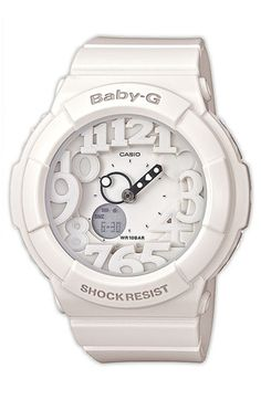 Casio 'Baby-G' Dual Movement Watch available at #Nordstrom - black or white?!?! ♥♥♥
