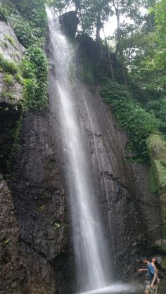 Waterfall at Curug Nangka, Bogor, West Java....