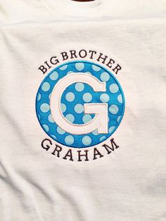Instant Download . Big Brother Circle Applique by FreckledFonts, $3.00