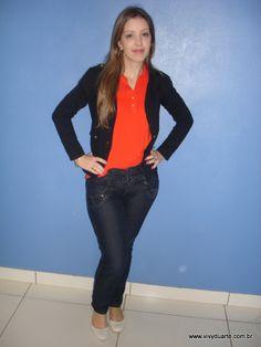Vivy Duarte: Look do Dia: Laranja
