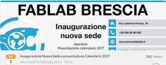 Inaugurazione FabLab Brescia  http://www.panesalamina.com/2017/53752-inaugurazione-fablab-brescia-2.html