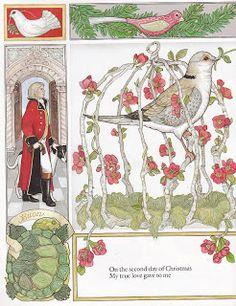 the marlowe bookshelf: Jan Brett's The 12 Days of Christmas