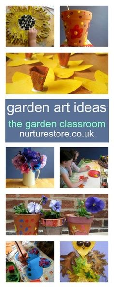 Do you take your art outdoors? It's a combination my kids adore. Here's a whole year's worth of garden art, crafts and outdoor play ideas.