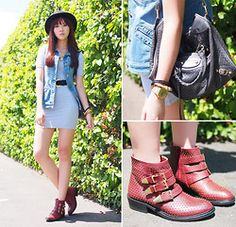 Tba Boots - Rocking My Red Boots - Camille Co