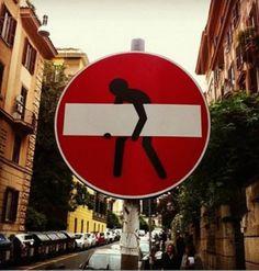 5. Esta debería ser la señal de hombres trabajando.