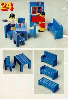 LEGO 222 Building Ideas Book instructions displayed page by page to help you build this amazing LEGO Books set Lego Design, Design Design, Lego Friends, Lego Building, Building Ideas, Deco Lego, Instructions Lego, Lego Books, Lego Furniture