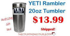 WOW! A YETI Rambler 20 oz Tumbler is only $13.99 shipped! Hurry to grab one at this price! Perfect gift idea, too!  Click the link below to get all of the details ► http://www.thecouponingcouple.com/yeti-rambler-20-oz-tumbler/ #Coupons #Couponing #CouponCommunity  Visit us at http://www.thecouponingcouple.com for more great posts!
