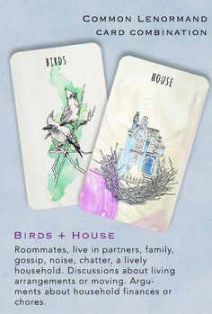 These cards are from the Scrying Ink Lenormand deck