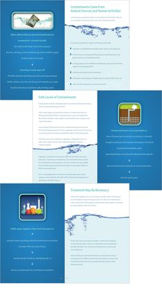 Drinking Water brochure spread for Minnesota Department of Health designed by The Design Company Human Services, Design Firms, Brochure Design, Drinking Water, Minnesota, Have Fun, Activities, Spring, Health