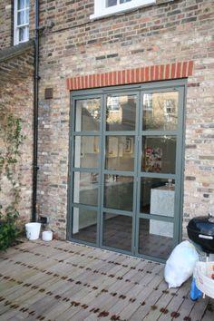 4 panel slimline folding doors installed in north london #foldingdoors # sunflex | Folding \u0026 Sliding Doors | Pinterest | Doors Interior inspiration and ... & 4 panel slimline folding doors installed in north london ...