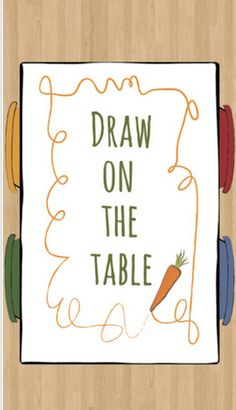 Draw on the Table is an awesome free app for iPad, with Frances Englad music in the background.