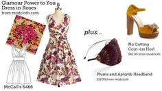 Make This Look: Glamour Power to You Dress in Roses | The Sew Weekly - Sewing & Vintage Lifestyle