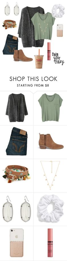 """{school tmw! QOTD:what grade ru in?}"" by itsmadddyem ❤ liked on Polyvore featuring MANGO, Hollister Co., Michael Kors, Tory Burch, Child Of Wild, Kendra Scott, Natasha, Kate Spade and NYX"