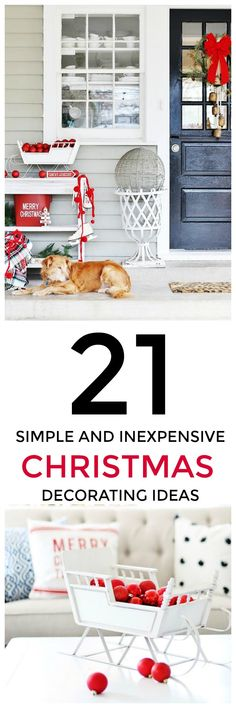 21 Easy and Inexpensive Christmas Decorating Ideas - Thistlewood Farm - Finance tips, saving money, budgeting planner Simple Christmas, All Things Christmas, Christmas Home, Christmas Ideas, White Christmas, Christmas 2019, Christmas Holidays, Christmas Crafts, Xmas