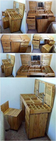 repurposed pallet vanity plan