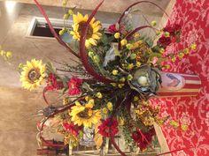 My fall sunflower arrangement