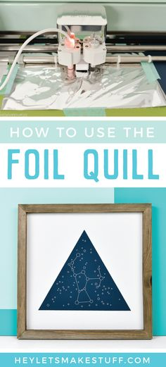 The Foil Quill is a revolutionary heating tool that works in all major cutting machines to beautifully foil projects on a variety of materials! Here\'s how to use the Foil Quill, tips and tricks for getting the best results, and a few ways to troubleshoot if you\'re having problems. via @heyletsmakestuf