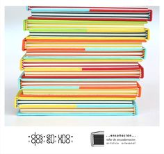 colorful hardcover dos-i-dos bindings by Mary Steibel