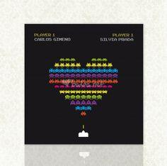 Invitación Space Invaders de Invitaciones Diquesi   Foto 24