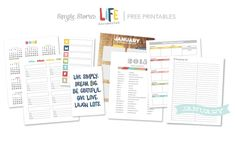 FREE PRINTABLES - Life Documented Planner January - 13 Free Printables Download here - https://s3.amazonaws.com/Simple_Stories_Downloads/life+doc_free+printables_jan_FINAL.pdf